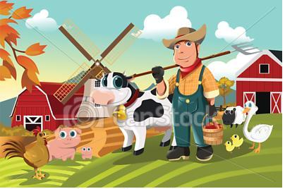 Un granjero animado - Imagui
